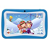 Kivors 7 inch Kids Tablets, 7'' Display, Quad Core Android, 8 GB, with WiFi Camera and Games, HD Kids Edition, Kid-Proof Case (Blue)