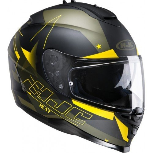 Casco Hjc Is-17 Armada NEGRO/VERDE/AMARILLO T-S
