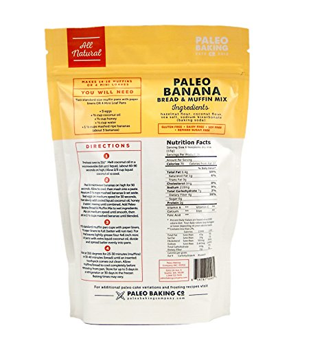 Paleo baking company paleo banana bread cake muffin mix for Atkins cuisine baking mix