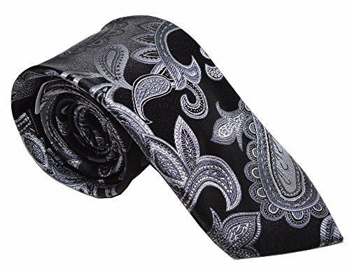 UPC 682875350390, Sean John Rich Paisley Tie (One Size, Black/Silver)
