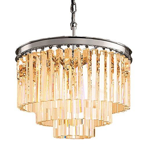 Odeon 6 Light 3 Ring Clear Golden Teak S - Golden Teak Glass Shade Shopping Results