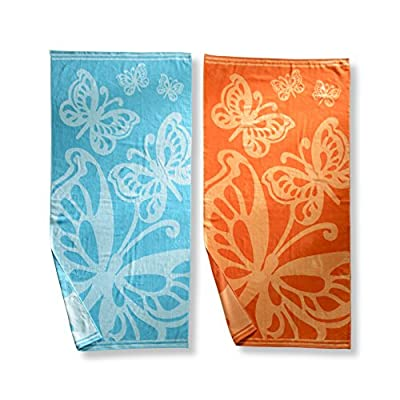 Superior Collection Luxurious Jacquard Cotton Beach Towels