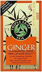 Triple Leaf Tea, Ginger, 20 Tea Bags (Pack of 6)