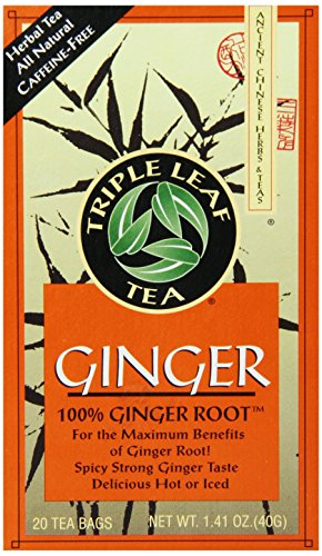 Triple Leaf Tea, Ginger, 20 Tea Bags (Pack of 6)