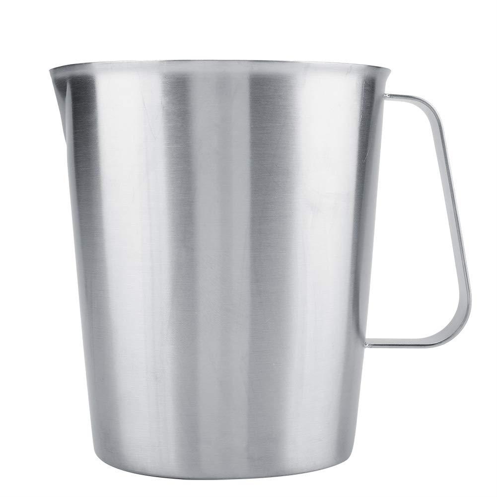 Taza de Acero Inoxidable Jarra de Jarra espumosa Grande de la Taza de medici/ón 2000ml para el Arte del caf/é del Latte