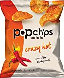 hot chip - Popchips Potato Chips, Crazy Hot Potato Chips, 24 Count (0.7 oz Bags), Gluten Free Potato Chips, Low Fat, No Artificial Flavoring, Kosher