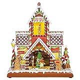 RAZ Imports 14.5'' Bakery/Sweet Shop Musical Gingerbread House Christmas 3816461