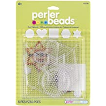 Perler Beads Small & Large Basic Clear Pegboards- 6 Count