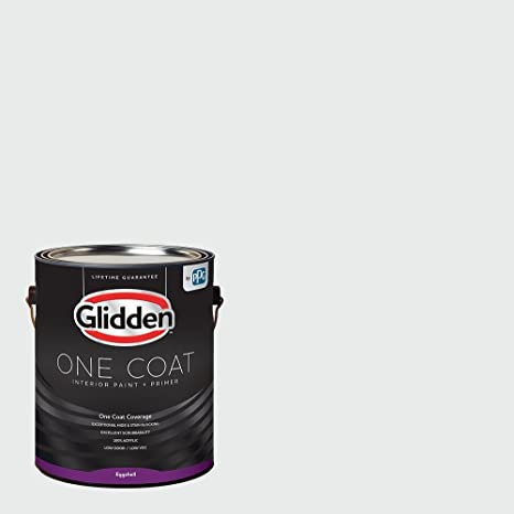 Charmant Glidden Interior Paint + Primer: White/White, One Coat, Eggshell, 1