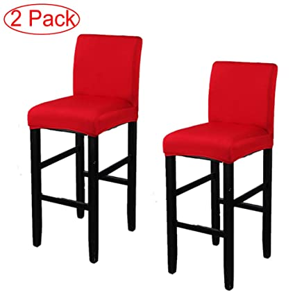 LJNGG 2 Pack Chair Cover Slipcover Counter Stool Covers Dining Room Kitchen Bar Cafe Furniture