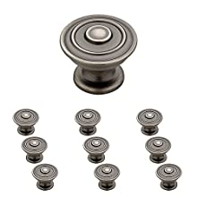 "Franklin Brass P29525K-904-B Classic Ringed Knob, 1-1/4"" (32mm), Gunmetal, 10 Piece"