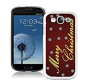 S3 Case,Dreamlike White Snowflakes With Merry Christmas White Silicone Samsung Galaxy S3 Case,S3 I9300 Cover Case