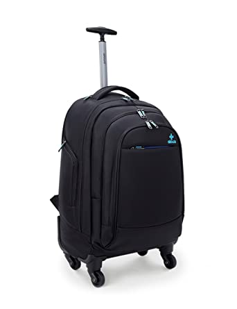 Amazon.com | Ailouis Rolling Backpack Carry On Luggage Suitcase 19 ...