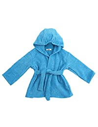 My Blankee Organic Hooded Bath Robe, Azure, 6-12 Months