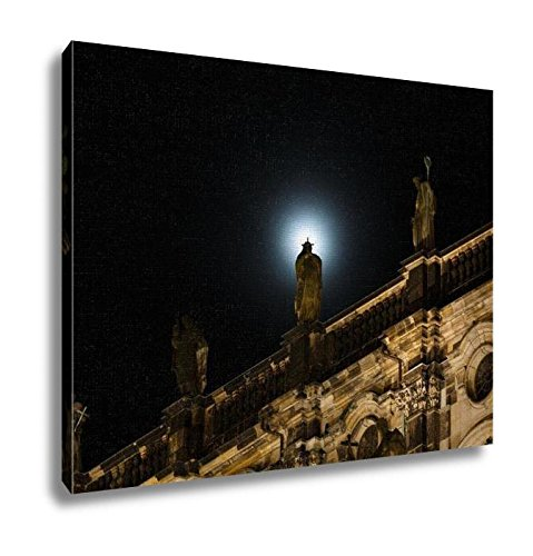 Ashley Canvas, Sculpture In The Moonlight, Home Decoration Office, Ready to Hang, 20x25, AG6605467 by Ashley Canvas