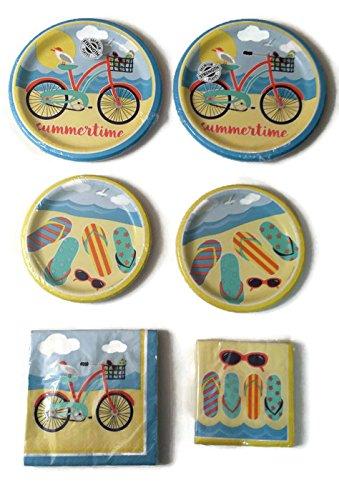 Beach-Party-Bundle-9-Plates-16-7-Plates-16-Lunch-Napkins-16-Dessert-Napkins-16