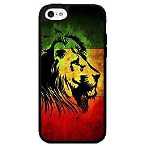 Yellow, Green, and Red Rasta Lion Hard Snap on Phone Case (iPhone 5c)
