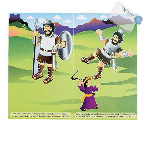 Bargain World Paper David And Goliath Sticker Scenes (With Sticky -