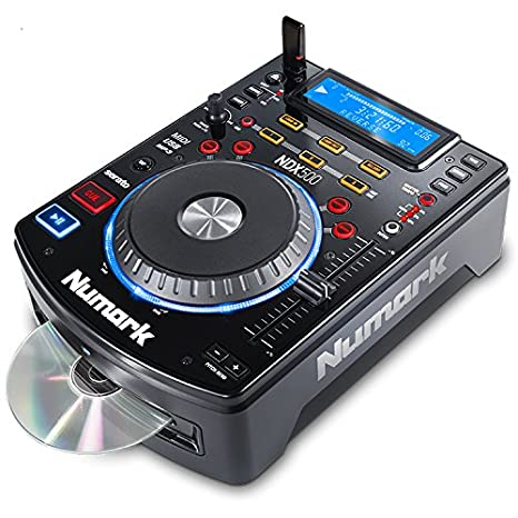 Numark NDX500 | Stand Alone USB / CD Player and Software Controller with  Touch-Sensitive Jog Wheel, Audio Interface, Long Throw Pitch Controls and