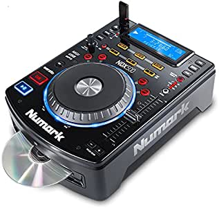 Numark NDX500 | Stand Alone USB / CD Player and Software Controller with Touch-Sensitive Jog Wheel, Audio Interface, Long Throw Pitch Controls and Pre-mapped for Deep Integration With Serato DJ