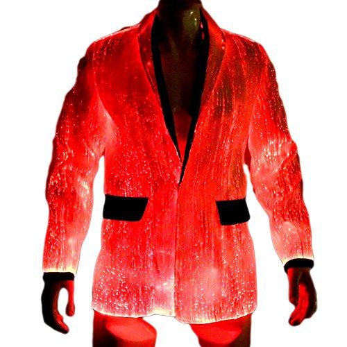 Light Up LED Jacket for Men EDM VIP Clothing Burning Man Clothes...