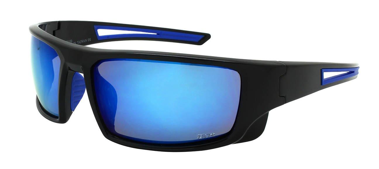 bafd66fdda Edge I-Wear Sports Safety Sunglasses ANSI Z87+ Color Mirror Lens  570100 REV-1(BLK.buwht)  Amazon.in  Beauty