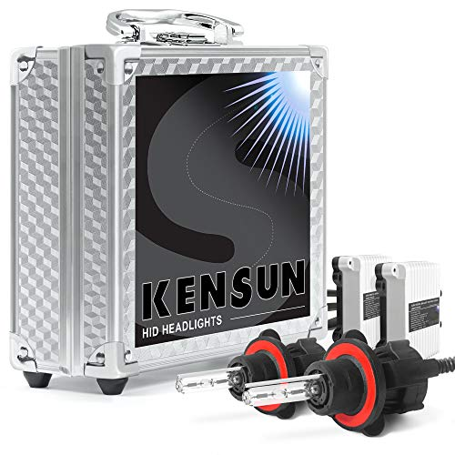 Kensun 55w HID Xenon Conversion Kit All Bulb Sizes and Colors with Digital Ballasts - H13 (9008) Bi-Xenon - 6000k