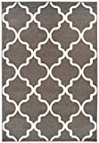 A.S Quality Rugs Modern Moroccan Trellis Rugs Gray Hallway Runner Rug 2x7 Runner Rugs for Hallway 2x8