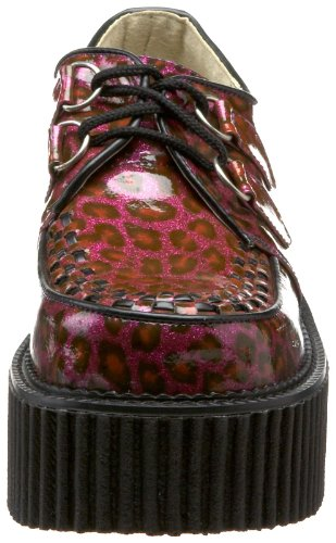 Zapatos Cheetah oxford Gltr Demonia mujer Pat Purple Swd5qIq