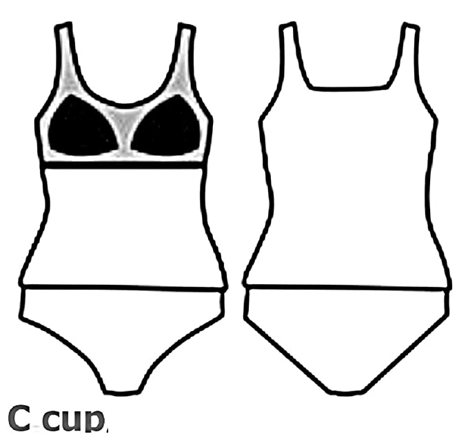 Damen Bikini Set 2-teilig Badeanzug Schwimmanzug C Cup  Größe 42 40 38 36 34