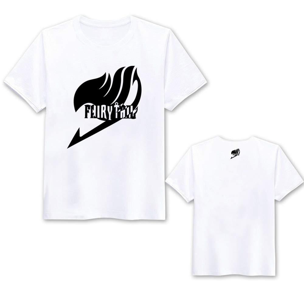 Fairy Tail Camiseta Camisetas de Manga Corta de algodón Hombres y ...