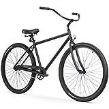 "Firmstrong Black Rock Men's Single Speed Beach Cruiser Bicycle, 29"", Matte Black"