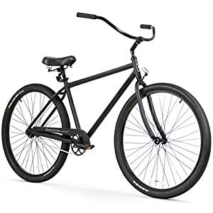 Firmstrong Black Rock Men's Single Speed Beach Cruiser Bike