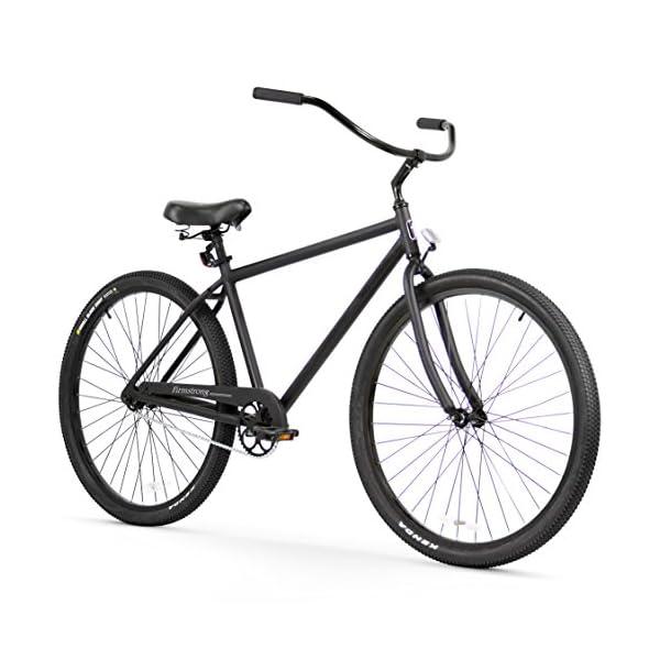 Firmstrong Black Rock Men's Single Speed Beach Cruiser Bike