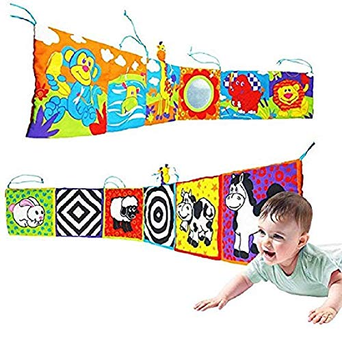 Quilted Multi Circle - Sales promotion, quantity is limited.Infant Kid Baby Crib Gallery High-Contrast Development Puzzle Zoo Cloth Book Toy
