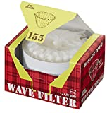 Kalita Wave Filters KWF-155 Pack of 50 Sheet White Convenient box type for taking out and storing 22211 (Japan Import) (155(1 to 2 people))