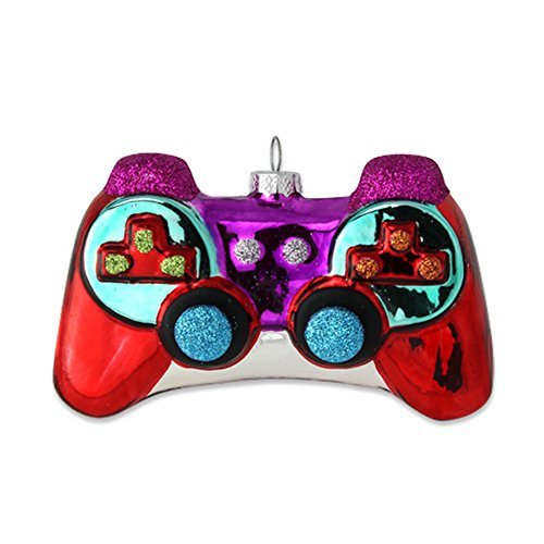 kat + annie 71852 Game Controller, Red/Purple/Blue (Christmas Ornaments Xbox)