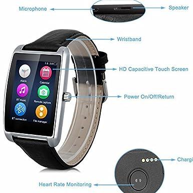 Verde de sirena reloj inteligente pulsómetro L11 con precisión y cuerpo de metal la Xiaomi Mi teléfonos móviles reloj con mano reloj mi funda para pulsera ...