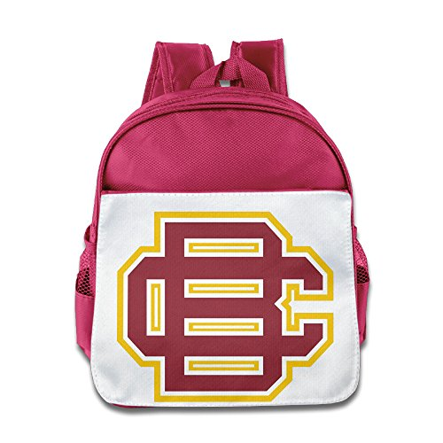 Price comparison product image XJBD Custom Funny Bethune-Cookman University Kids Shoulders Bag For 1-6 Years Old Pink