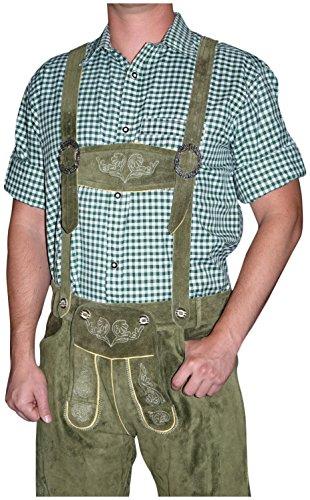 German-Green-Lederhosen-Button-Down-Longsleeve-Shortsleeve-Shirt