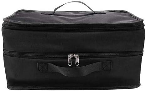 DYHM Borsa viaggio 3 strati sacchetto di immagazzinaggio di viaggio portatile gancio appeso maglie di nylon borsa organizer guardaroba vestiti scarpe borse da viaggio borse scaffali