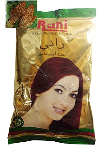 100g Natural Rani Henna Powder Conditioner Mehandi Hair & Body Tattoo Dye Red 115