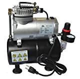 Weberdisplays Pro Air Compressor with 3 Liter Tank Kit For Airbrush with Regulator
