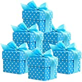 Party Deco 281247511361 - Cajas de regalo, 50 unidades, color azul y blanco