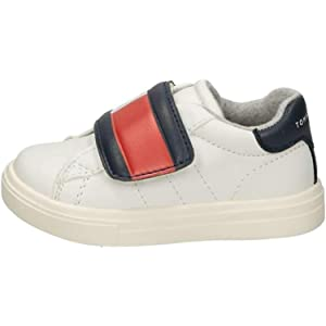 Tommy Hilfiger T1B4-30304-0622 Blue//Red//White Eco Leather Infant Trainers