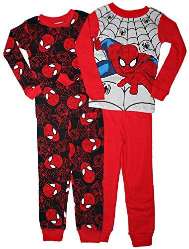 Spider-Man Little Boys Toddler 4 Pc Cotton Sleepwear Set