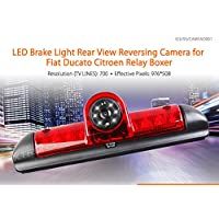 XTRONS LED Brake Light Rear Reverse Parking Camera for Fiat Ducato/Peugeot Boxer/Citroen Relay