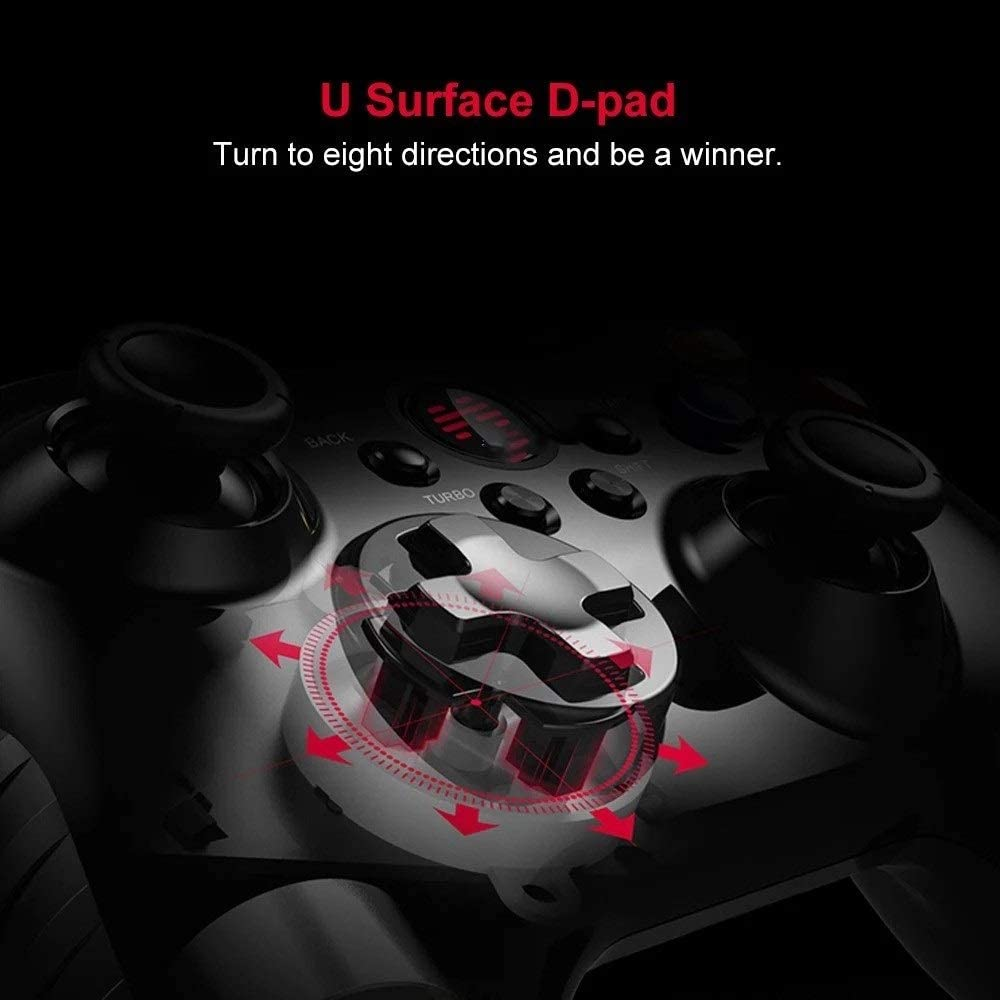 Color : Black, Size : One Size Gamepad Game Controller Wired Gamepad with Joystick for PC Android Game Controller