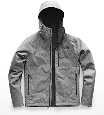 The North Face Men/'s Apex Bionic Hooded Softshell Jacket Black Gray XX-Large XXL
