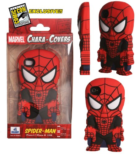[Spider-man Red and Black Variant iPhone 4/4S Chara-Cover iPhone 4/4S Cell Phone Case SDCC 2013 San Diego Comic Con Exclusive] (Deadpool Costume Variants)